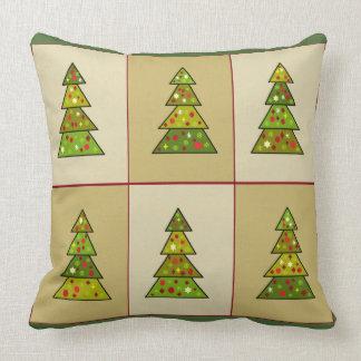 Christmas Tree Sampler Decorative Pillow