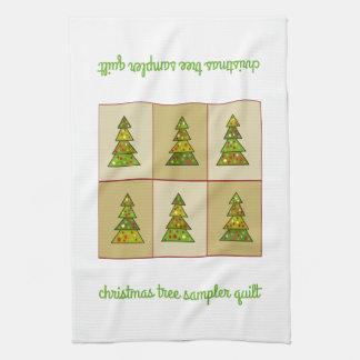 Christmas Tree Sampler Quilt Kitchen Towel
