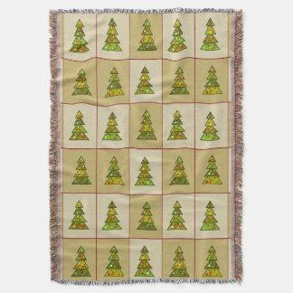 Christmas Tree Sampler Throw Blanket