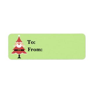 Christmas Tree Santa Gift Lables Label