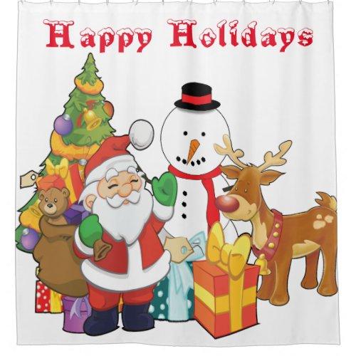 Christmas Tree Santa Reindeer Snowman