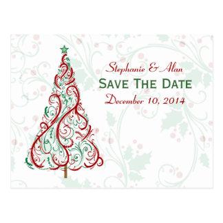 Christmas Tree Save The Date Postcard