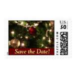 Christmas Tree Save the Date Stamps
