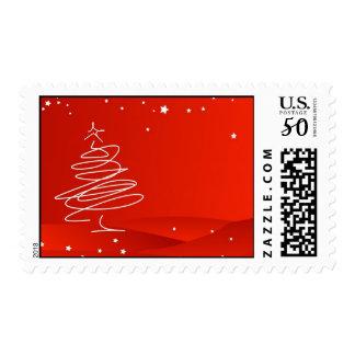 Christmas Tree Scribble Postage