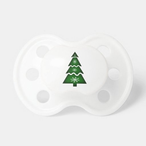 Christmas Tree Sectional w flakes 1 Baby Pacifiers