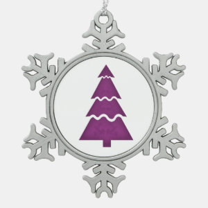 Christmas Tree Sectional with call ornament purple