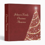Christmas Tree Shimmer 3 Ring Binders