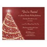 Christmas Tree Shimmer Custom Invite