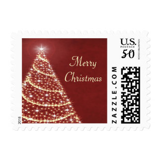 Christmas Tree Shimmer Postage