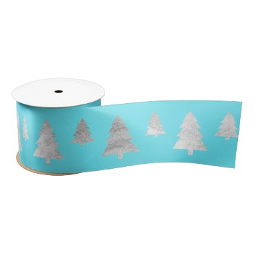 Beach Themed Christmas Tree Silver Aquatic Blue Ocean Satin Ribbon