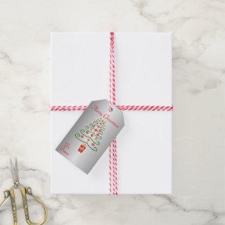 Christmas Tree Silver Coloured Christmas Gift Tags