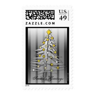 Christmas Tree Silver Postage