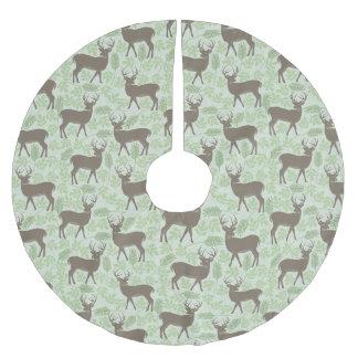 Christmas Tree Skirt - Woodland Deer Design