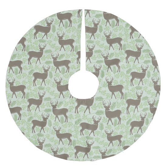 Christmas Tree Skirt - Woodland Deer Design