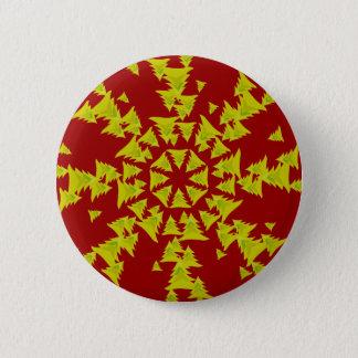 Christmas Tree Snow Flake Pinback Button
