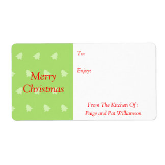 Christmas Tree Snowflakes Baked Goods Kitchen Food Label
