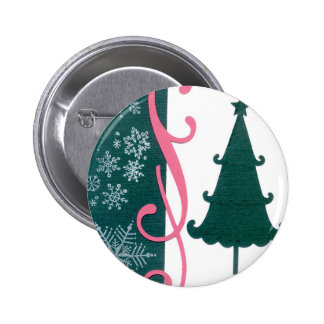 Christmas Tree Snowflakes Fancy Scroll Work Craft Pin
