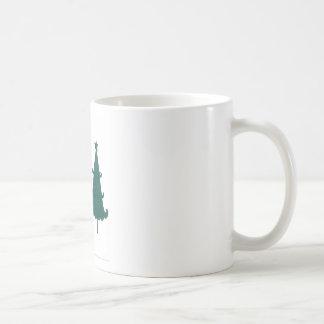 Christmas Tree Snowflakes Fancy Scroll Work Craft Mugs