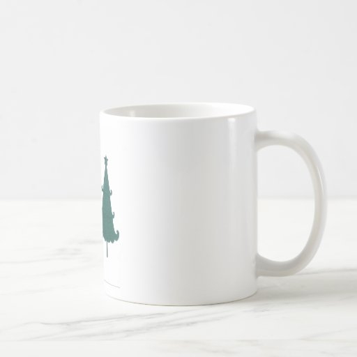 Christmas Tree Snowflakes Fancy Scroll Work Craft Classic White Coffee Mug