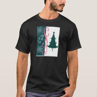 Christmas Tree Snowflakes Fancy Scroll Work Craft T-Shirt