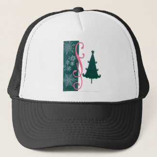 Christmas Tree Snowflakes Fancy Scroll Work Craft Trucker Hat