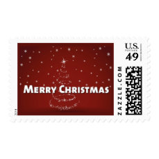 Christmas Tree Snowflakes Postage