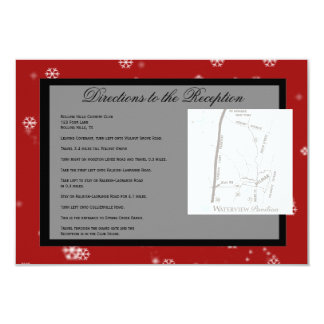 Christmas Tree Snowflakes Red Wedding Directions Custom Announcements