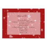 "Christmas Tree Snowflakes Wedding Rehearsal Dinner 3.5"" X 5"" Invitation Card"