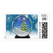 Christmas Tree Snowglobe USPS Holiday Stamp 2017