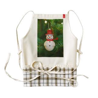 Christmas tree snowman decoration zazzle HEART apron
