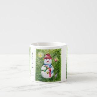 Christmas Tree Snowman Espresso Mug