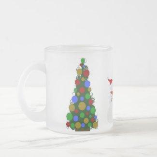 Christmas Tree Snowman Mug mug