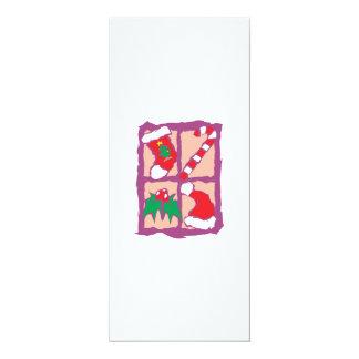 Christmas Tree Sock Candy Cane Mistletoe Santa Hat Card