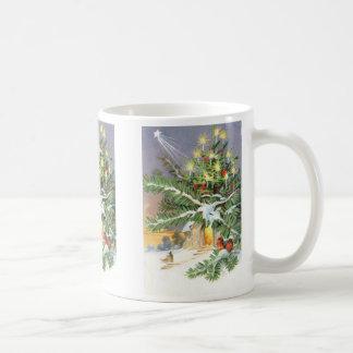 Christmas Tree Songbird Evergreen Church Coffee Mug