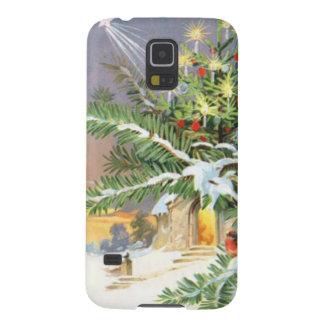 Christmas Tree Songbird Evergreen Church Galaxy S5 Cover