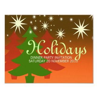 Christmas Tree Sparkly Star custom Invitations
