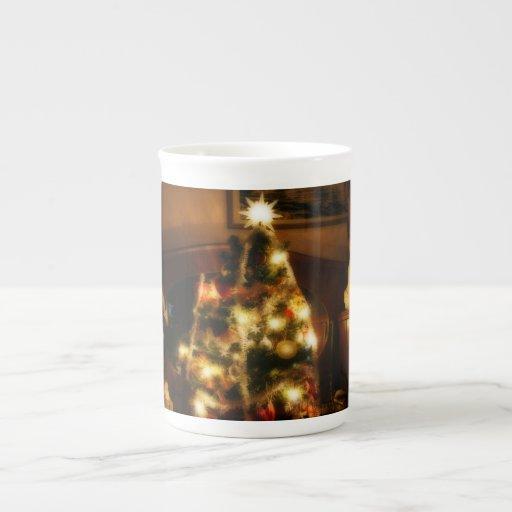 Christmas Tree Bone China Mugs