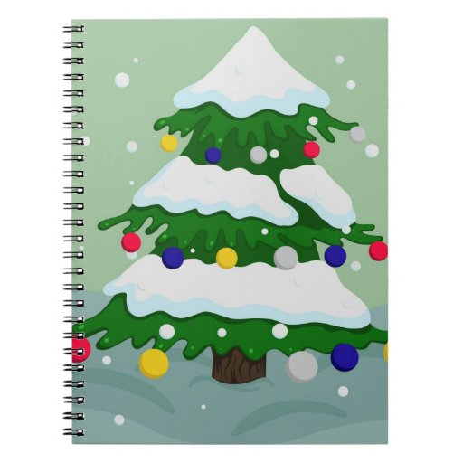 christmas tree spiral note books