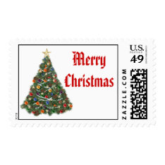 Christmas Tree Stamp at Zazzle