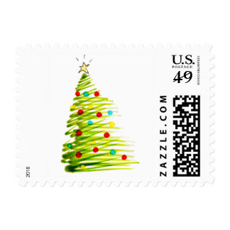 Christmas Tree Stamp by Artist Brad Hines