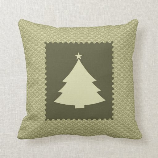 Christmas Tree Stamp Pillows