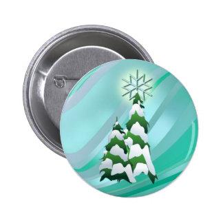 CHRISTMAS TREE & STAR by SHARON SHARPE Button