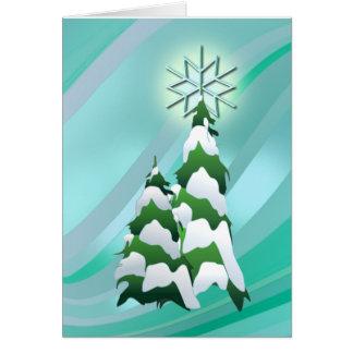 CHRISTMAS TREE & STAR by SHARON SHARPE Card