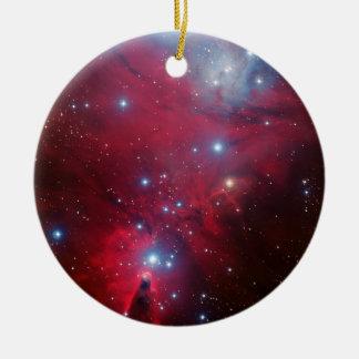 Christmas Tree Star Cluster Ceramic Ornament