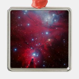 Christmas Tree Star Cluster Metal Ornament