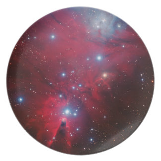 Christmas Tree Star Cluster Party Plate