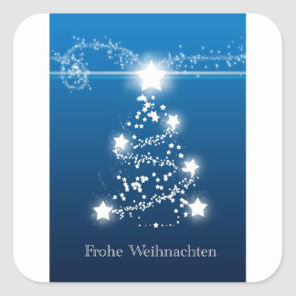 Christmas tree star Frohe Weihnachten Square Sticker