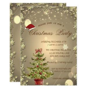 Company Christmas Invitations Zazzle