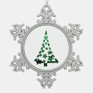 Christmas Tree stars n dashes mottled green.png Ornament