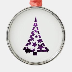 Christmas Tree stars n dashes mottled purple.png Christmas Tree Ornament